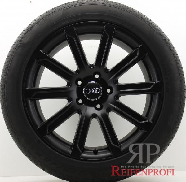 Original Audi Q7 4L V12 20 Zoll Sline Sommerräder 4L0601025AD 10x20 ET44 Schwarz-Matt